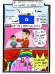 What Do YOU See When You Look at the Recycling Bin? A Carl's Life #Cartoon