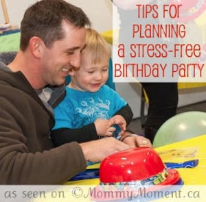 Stress free birthday party