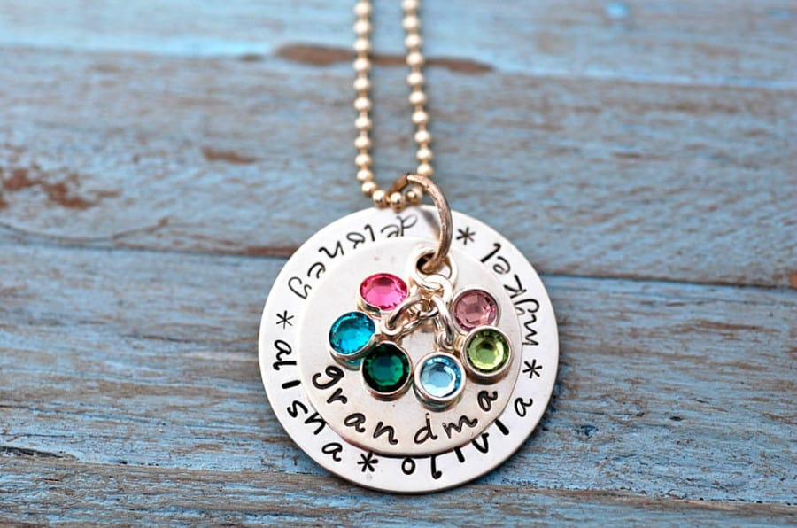 Hand stamped jewelry from something about silver giveaway for Grandmother jewelry you can add to