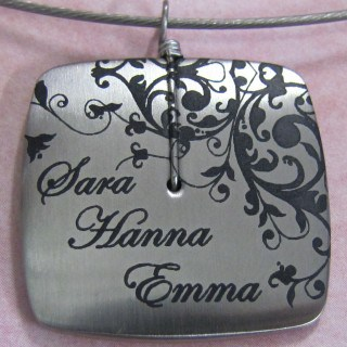 Personalized Large Square Pendant from Total She Makes The Perfect Mother's Day Gift! #CelebrateMom #Giveaway