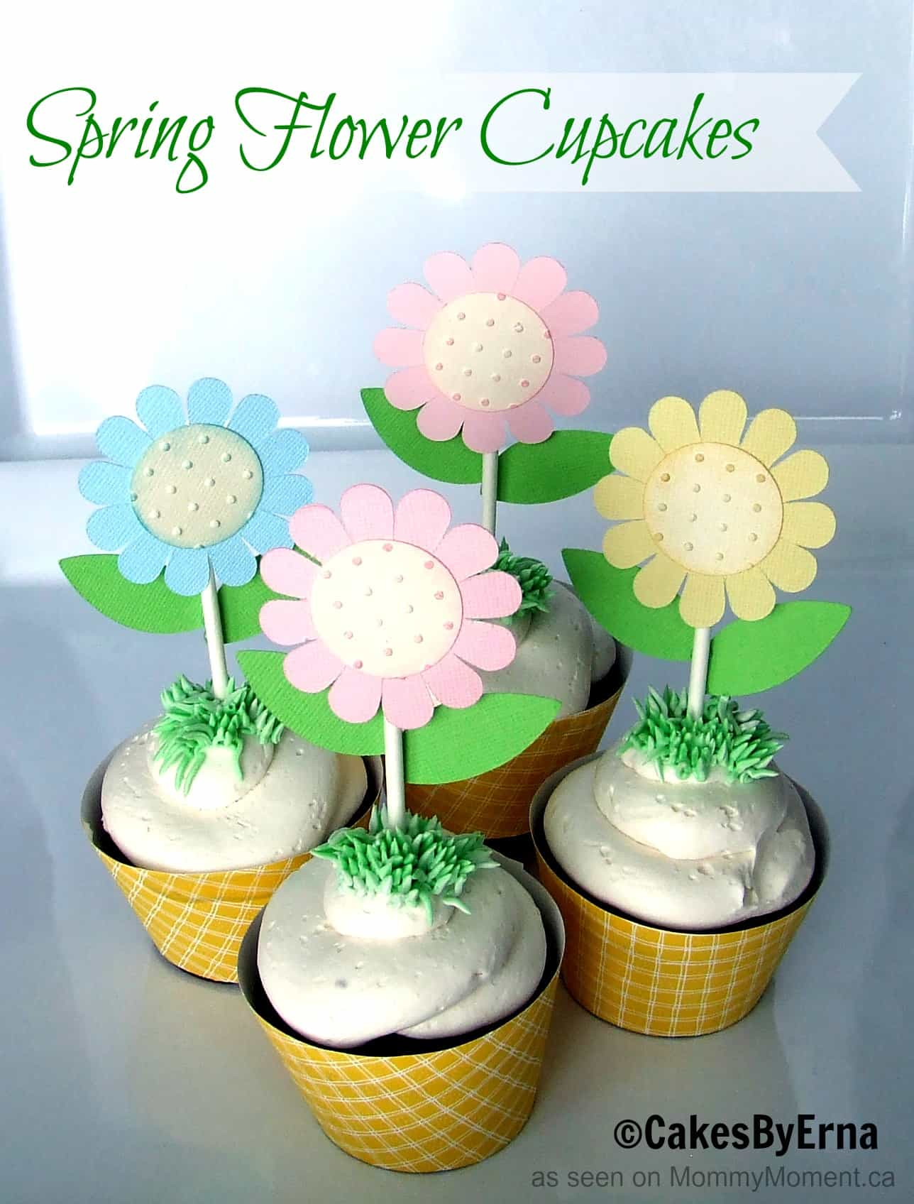 Spring Flower Cupcakes Mommy Moment