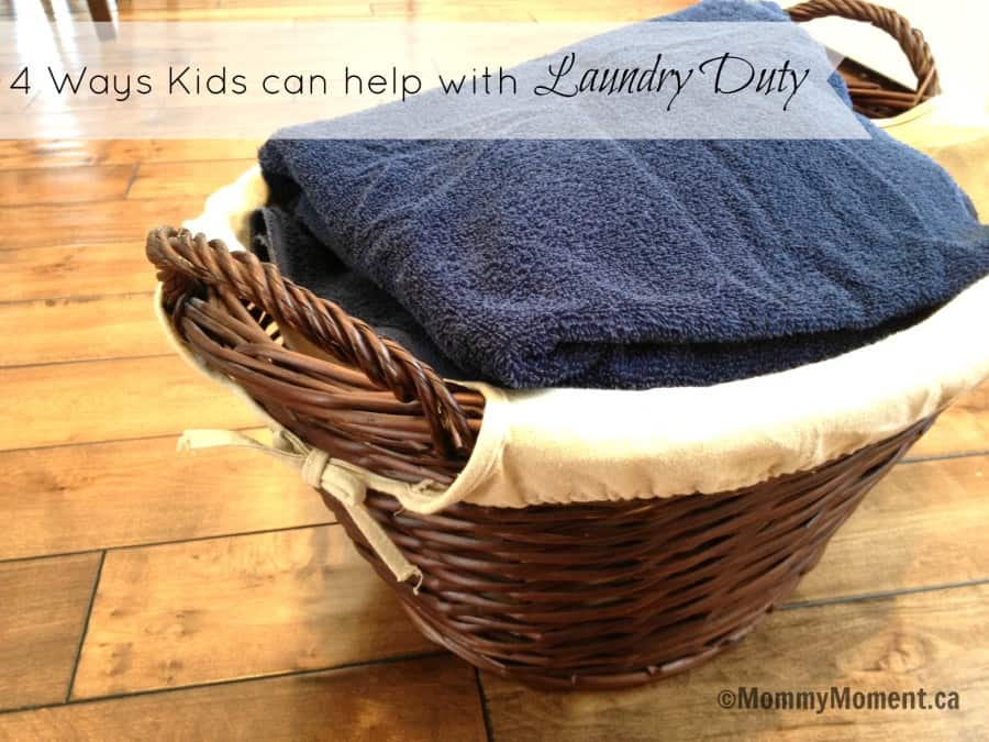 Kids can help with Laundry