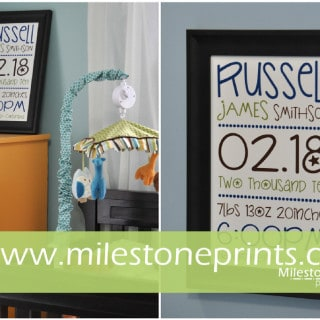 Highlight Your Family's Special Moments with Milestone Prints! #CelebrateMom #Giveaway $75 Value