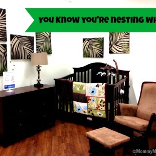 You know you're nesting when…