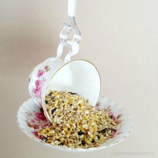 HOW TO MAKE A DIY TEA CUP BIRD FEEDER
