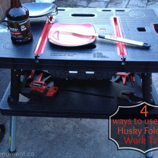 4 Ways to Use Your Husky Folding Table ~ Father's Day #Giveaway #SpoilDad