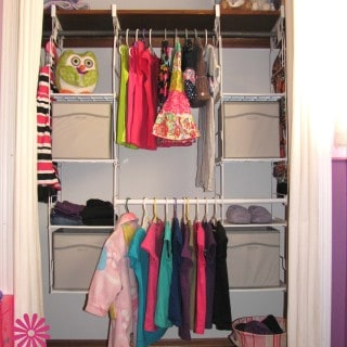 Before & After with the Rubbermaid Closet Helper System