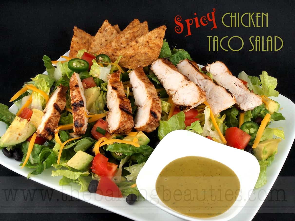 Spicy Chicken Taco Salad - Mommy Moment