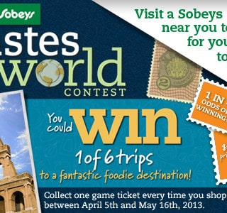 Sobeys West Tastes of the World Contest & Twitter Party Alert! #SobeysWest