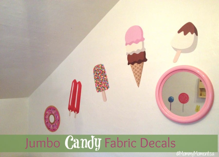 Candy wall decals add a sweet touch to your child 39 s for Candy wall mural