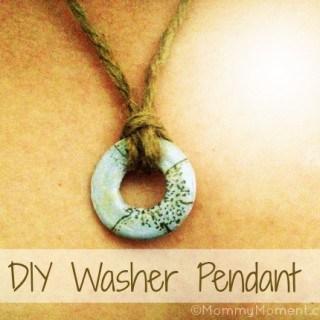 DIY Washer Pendant Necklace