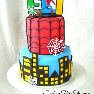 DIY SPIDERMAN CAKE