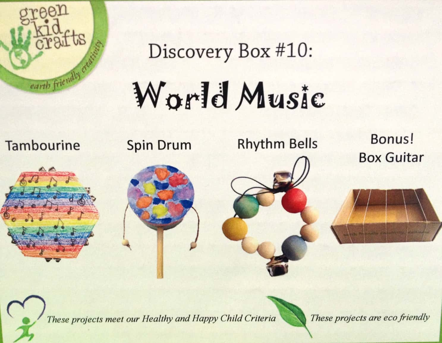 DIY Musical Instruments with Green Kid Crafts - Mommy Moment