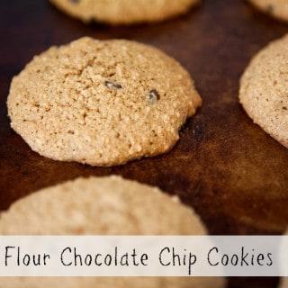 ALMOND FLOUR CHOCOLATE CHIP COOKIES ~ A GLUTEN FREE RECIPE