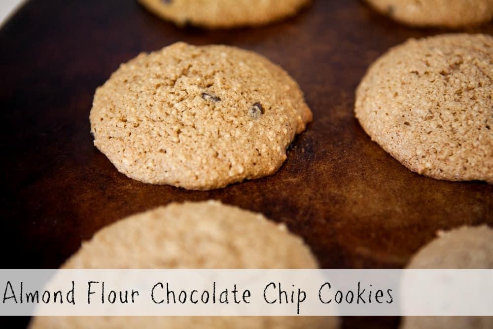 Almond Flour Chocolate Chip Cookies ~ A Gluten Free #Recipe
