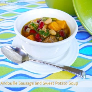 Andouille Sausage and Sweet Potato Soup #recipe