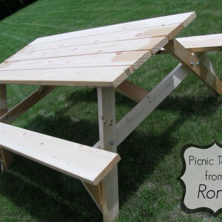 Have a Picnic in Your Backyard with Your Very Own Picnic Table #Giveaway {CAN}
