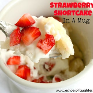 Strawberry Shortcake in a Mug #Recipe