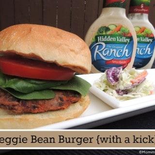 Veggie Bean Burger {with a kick}