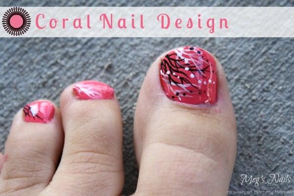 Coral Nail Design 1
