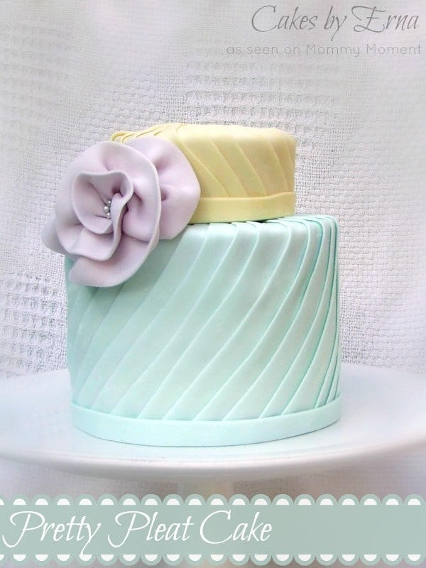 Pretty Pleat Cake