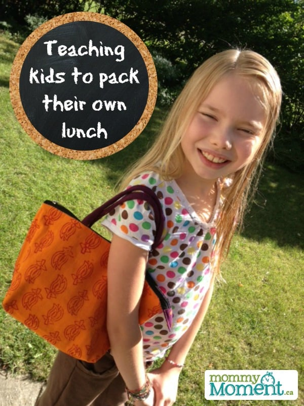 teaching kids to pack lunch