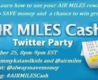 Join the #AIRMILESCash Twitter Party Wednesday Sept 25 @ 8pm est