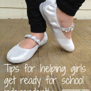 Tips for helping girls get ready for school independently