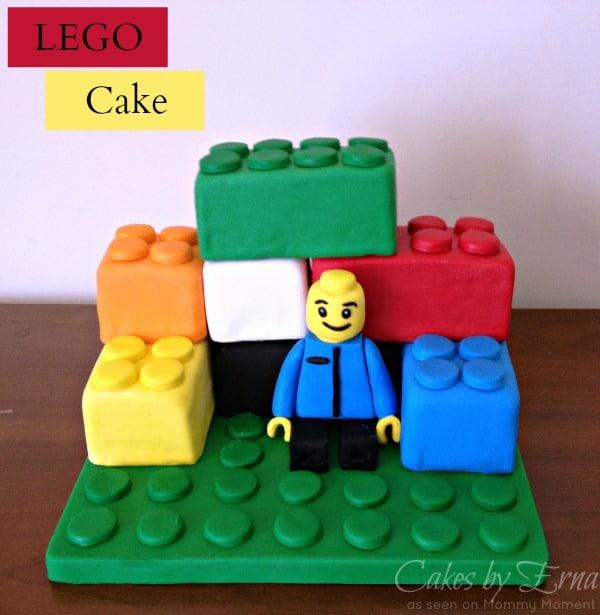 DIY LEGO brick cake
