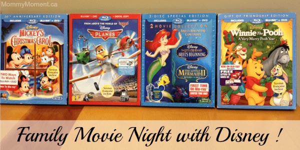 Get Ready for Family Movie Night with these Disney DVDs #Giveaway {CAN}