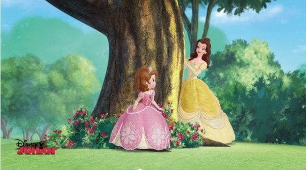 bell and sofia the first disney junior