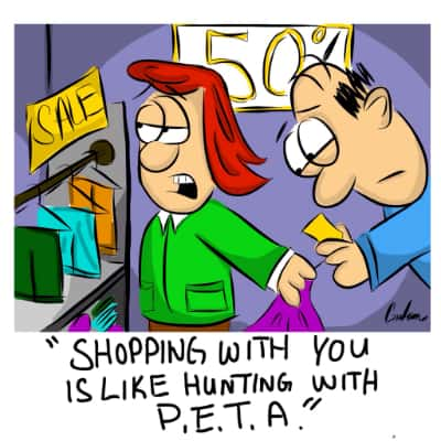 Shopping with you is like…