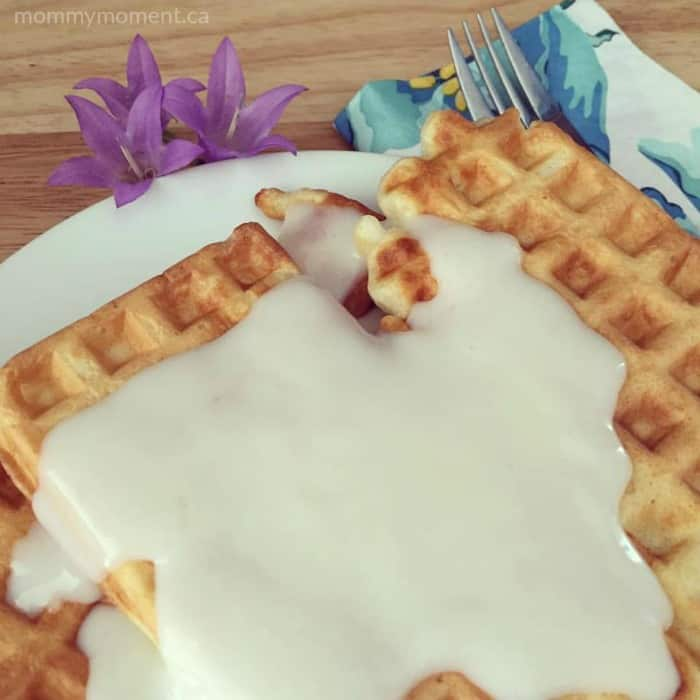waffles and white sauce recipe