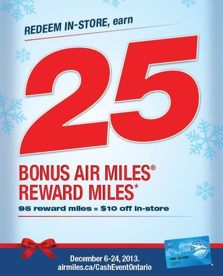 Air Miles Bonus