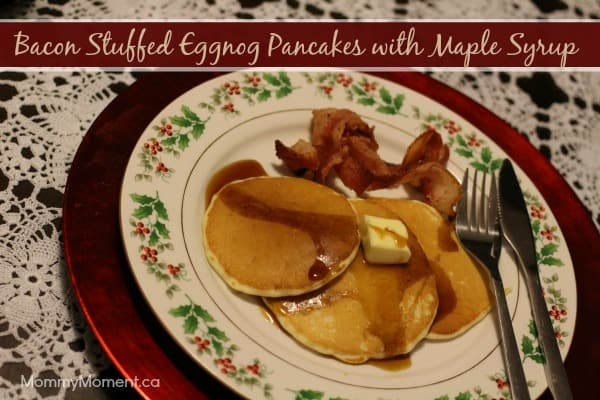Bacon Eggnog Pancakes Recipe