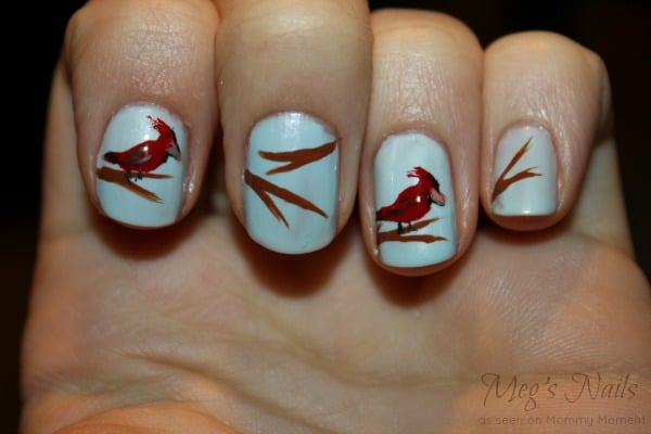 DIY Bird Nail Art 7