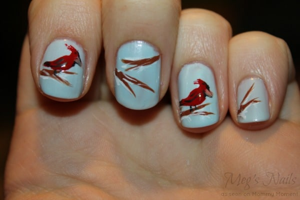 DIY Bird Nail Art 8