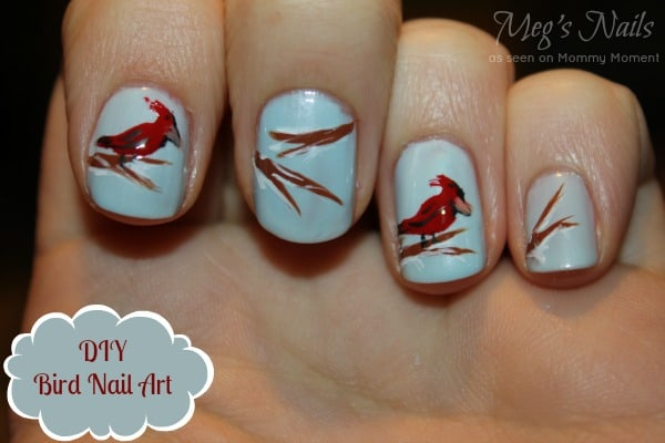 DIY Bird Nail Art