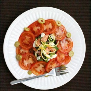 Tomato Salad & update on our healthy living journey