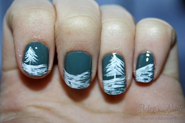 Wintery Nail Art