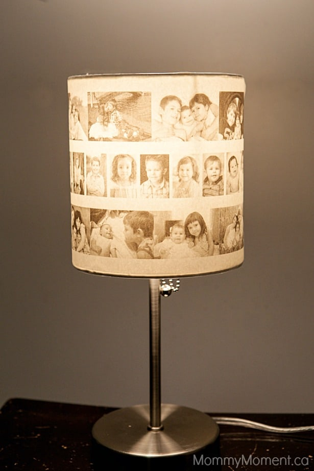 DIY Photo Lamp Finished