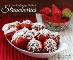 Fudge Stuffed Strawberries