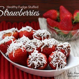 Healthy Fudge Stuffed Strawberries