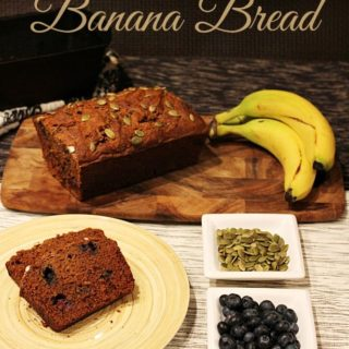 SPROUTED GRAIN BLUEBERRY BANANA BREAD