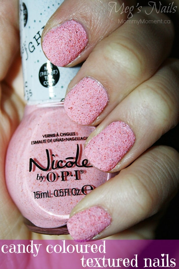 Candy coloured textured nails