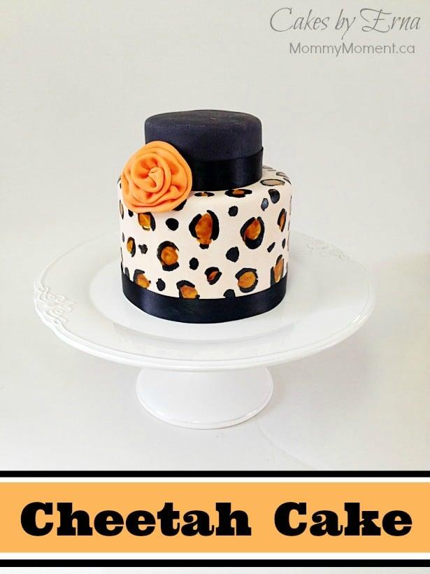 Brilliant Cheetah Cake Personalised Birthday Cards Vishlily Jamesorg