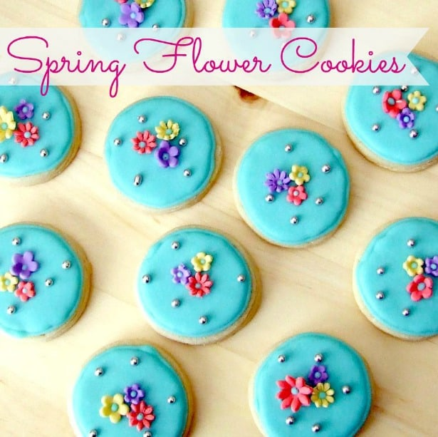 beautiful Spring flower cookies