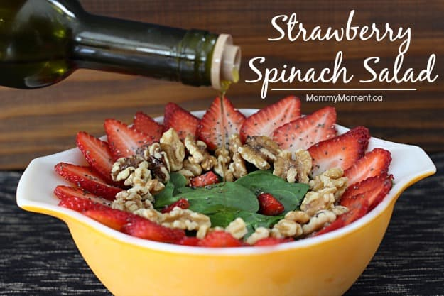 strawberry spinach salad - MommyMoment.ca