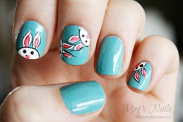 Easter Bunny Nail Art 4