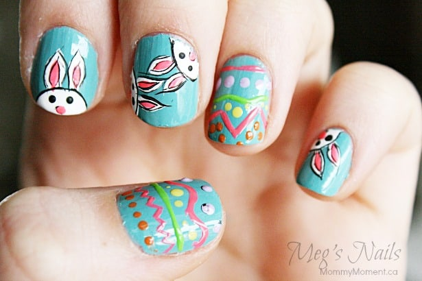 Easter Bunny Nail Art 5